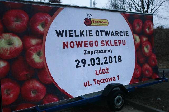 Otwarcie nowej Biedronki w Łodzi przy ul. Tęczowej