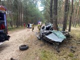 Kilka pożarów i groźnie wyglądający wypadek niedaleko jeziora Glinik. Strażacy z OSP Deszczno mieli pracowitą sobotę!