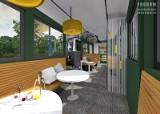 Kawiarenki w starych tramwajach będą takie! [WIZUALIZACJE]