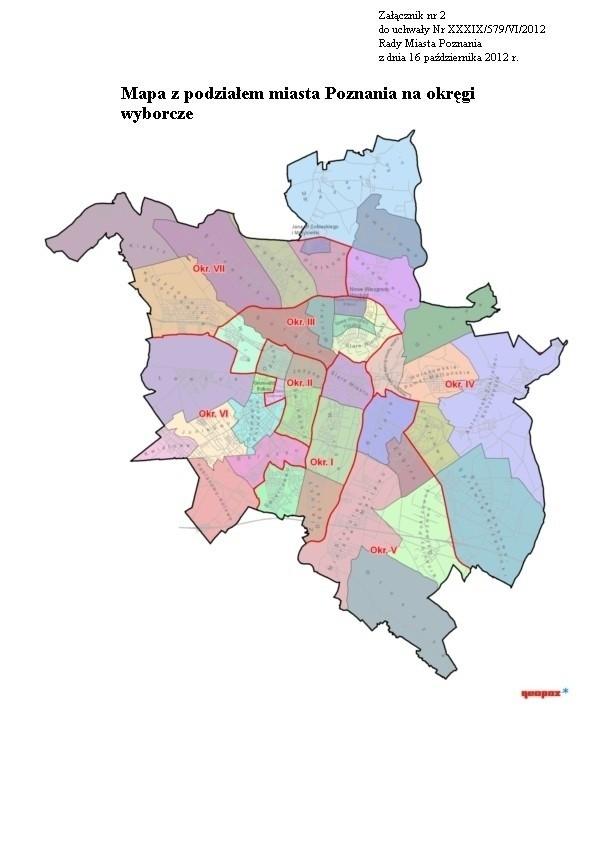 Lokale wyborcze Poznań: Sprawdź, gdzie głosować! Wybory samorządowe 2014. Na mapie - okręgi wyborcze w Poznaniu