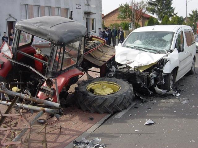 Wypadek w Wardężynie.