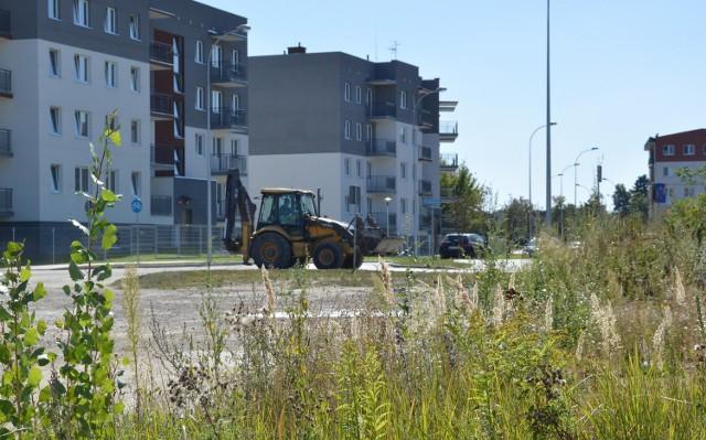 Przy ul. Celulozowej, obok bloków, są jeszcze zarośla, ale już za kilka miesięcy ruszą tu roboty