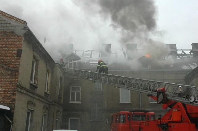 Pożar wybuchł w sobotę rano