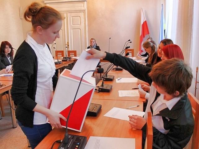 nad wyborem kierownictwa Młodzieżowej Rady Miasta było tajne