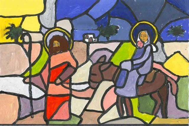 Nagrodzona praca została tegoroczną kartką świąteczną starostwa.