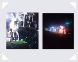 Pożar kombajnu do kukurydzy w Konojadach w gminie Jabłonowo Pomorskie w powiecie brodnickim. Wstępnie straty oszacowano na ok. 350 tys. zł
