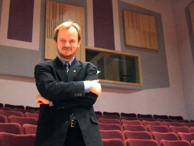 Marcin Nałęcz-Niesiołowski jeszcze jako dyrektor Opery i Filharmonii Podlaskiej