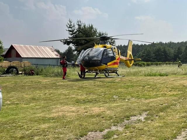 Tragiczny wypadek w Żędowicach w gminie Zawadzkie. Na miejscu lądował śmigłowiec LPR.