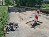 Toruń. Zapadła się część jezdni na Rydygiera [Pogotowie reporterskie]