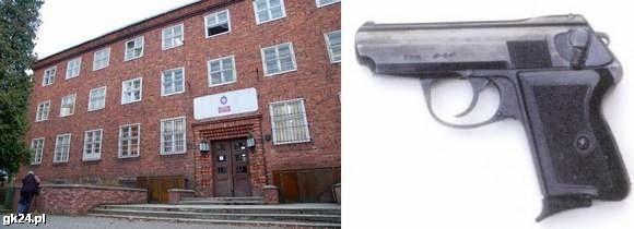 W komendzie w Szczecinku zaginął pistolet P64.