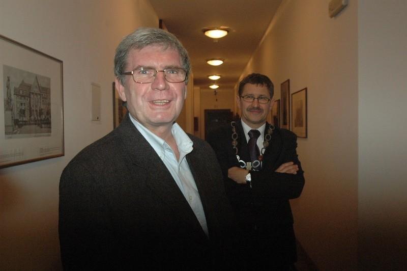 Dyrektor Leszek Lenarczyk (z lewej) i prezydent Jan Zubowski zadecydują kto będzie zastępca w muzeum. Wiadomo, że będzie to W. Hass.