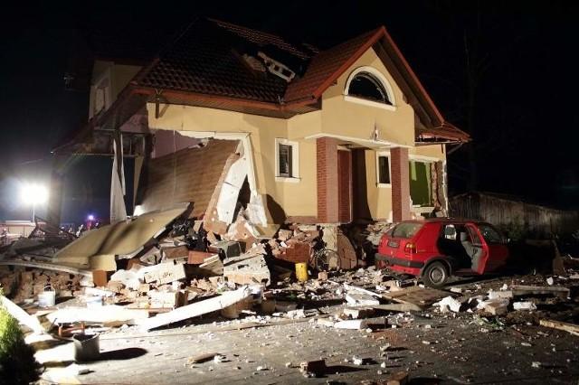 Po wybuchu dom nadaje się do rozbiórki.