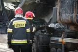 Płonął TIR na drodze krajowej nr 8. Korki i utrudnienia w ruchu!