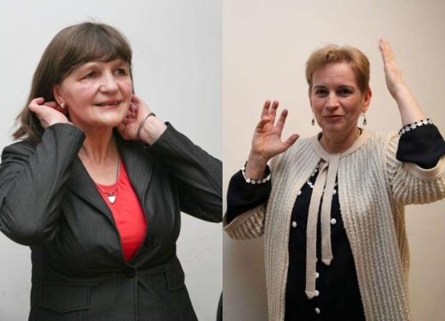 Lena Czechowska (z lewej) mogłaby przejść na emeryturę. Ale nie chce rezygnować z zawodowej aktywności. - Nawet pięćdziesięciolatka może chodzić do szkoły – przekonuje Grażyna Bublej (z prawej)