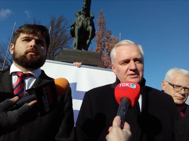 Konferencja prasowa Jarosława Gowina w Lublinie