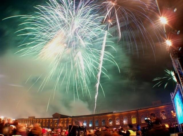 Na przywitanie nowego roku w Manufakturze zostanie wystrzelona prawie tona fajerwerków.