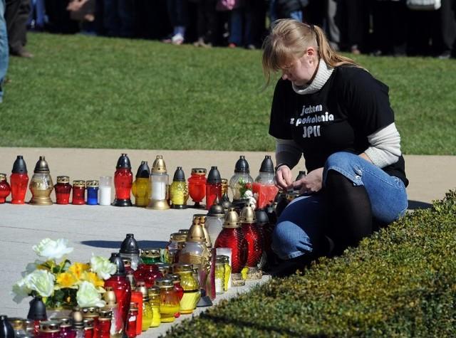 Rocznica śmierci papiezaObchody rocznicy śmierci Jana Pawla II w Szczecinie.