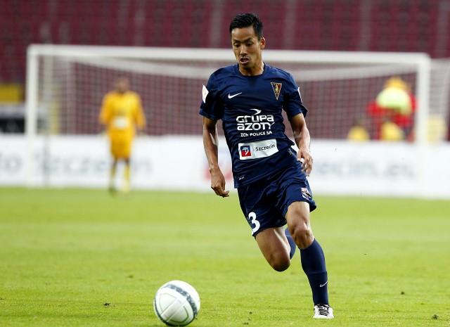 Takuya Murayama był najlepszym piłkarzem Pogoni w pierwszej połowie.