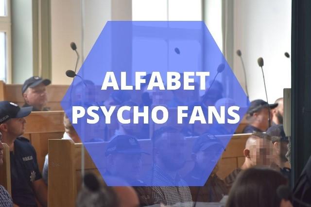 """Alfabet Psycho Fans - najważniejsze fakty dotyczące zorganizowanej grupy przestępczej kiboli Ruchu ChorzówZobacz kolejne plansze. Przesuwaj zdjęcia w prawo - naciśnij strzałkę lub przycisk """"NASTĘPNE"""""""