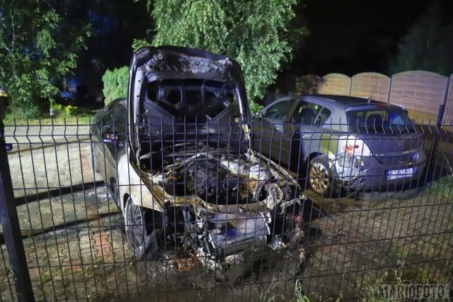 Pożar BMW w Opolu.