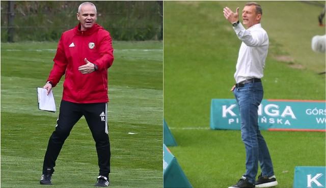 Zarówno Vítězslav Lavička (z lewej) jak i Dariusz Żuraw w niedzielę muszą przekonać swoich pracodawców, że wciąż warto na nich stawiać. W obu klubach mówi się o zmianie szkoleniowca