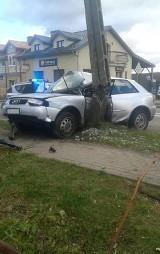 Wypadek w Szczuczynie. OSP Szczuczyn ratuje ofiary karambolu