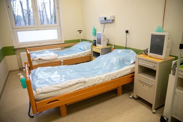 Oddział covidowy w Wojewódzkim Szpitalu Zespolonym w Białymstoku.