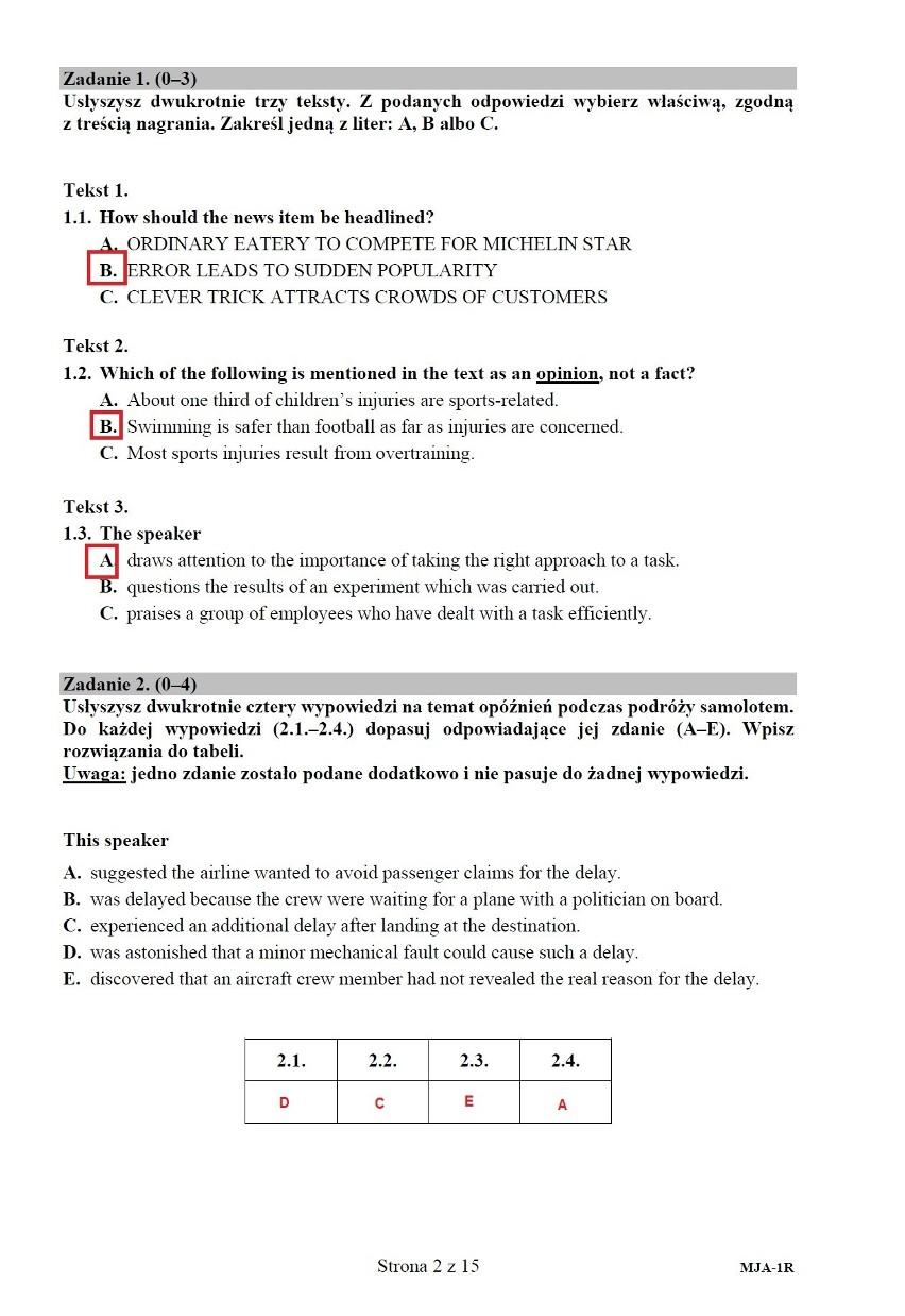 Matura 2020 angielski rozszerzenie. Odpowiedzi, ARKUSZ CKE. Co było na egzaminie z j. angielskiego na poziomie rozszerzonym 10.06.2020?