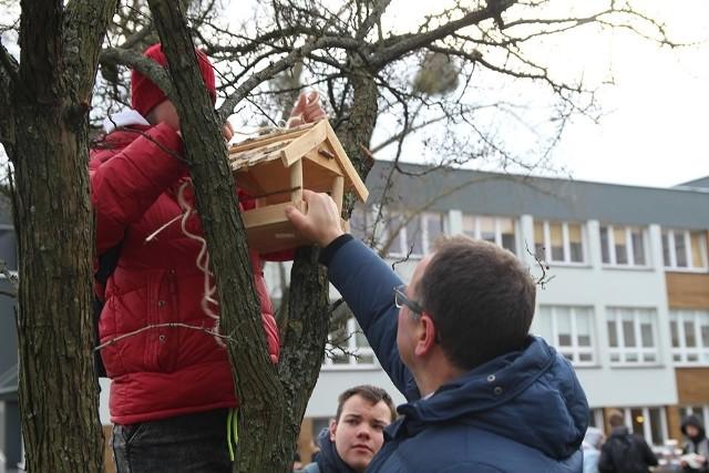 Akcja wieszania karmników dla różnego rodzaju ptactwa w Ostrołęce