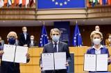 """Unijni przywódcy podpisali deklarację w sprawie Konferencji o przyszłości Europy. """"Dziś rozpoczyna się nowa era dla Unii Europejskiej"""""""