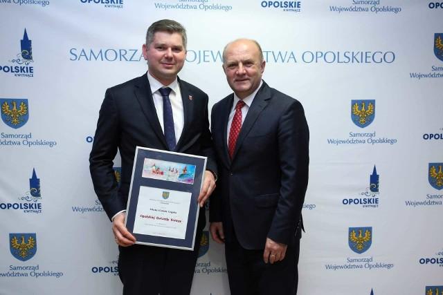 Nagrodę odebrał wiceburmistrz Krzysztof Reinert.