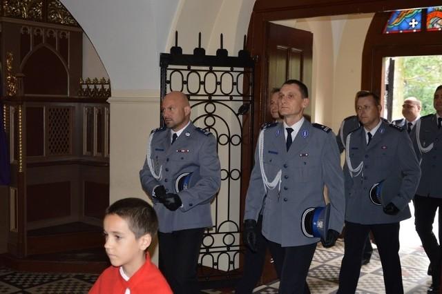Powiatowe obchody Święta Policji w Kluczborku.