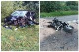 Wypadek na DW 678. Zderzenie skody i volvo na trasie Barszczówka - Tołcze. Z auta wypadł silnik! Kierowca miał ponad 2,5 promila alkoholu