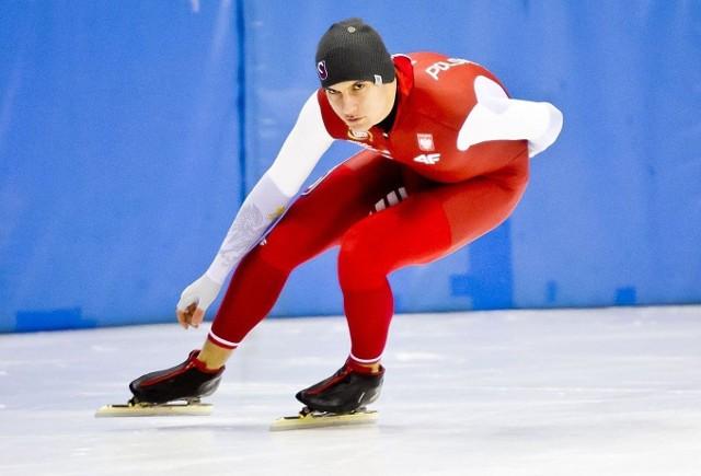 Piotr Michalski pewnie zwyciężył w mistrzostwach Polski w wieloboju sprinterskim w łyżwiarstwie szybkim