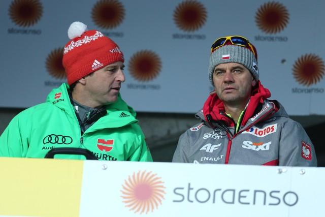 Werner Schuster (z lewej) i Stefan Horngacher (z prawej)