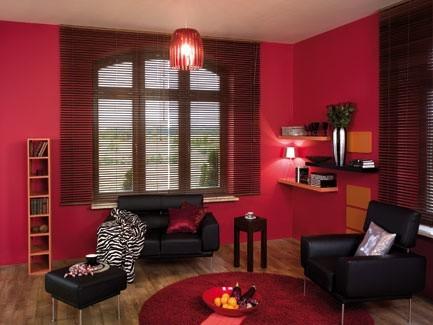 Czerwony w mieszkaniuKolor czerwony pobudza do działania.