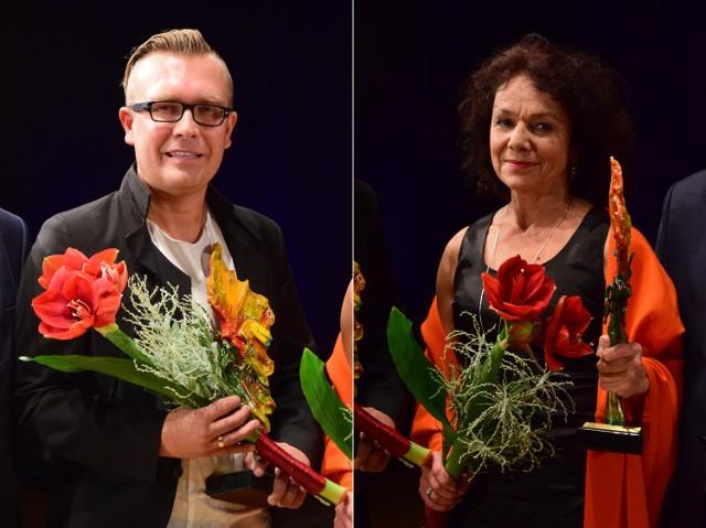 Laureaci tegorocznych Motyli: Marek Zalewski i Beata Chorążykiewicz.