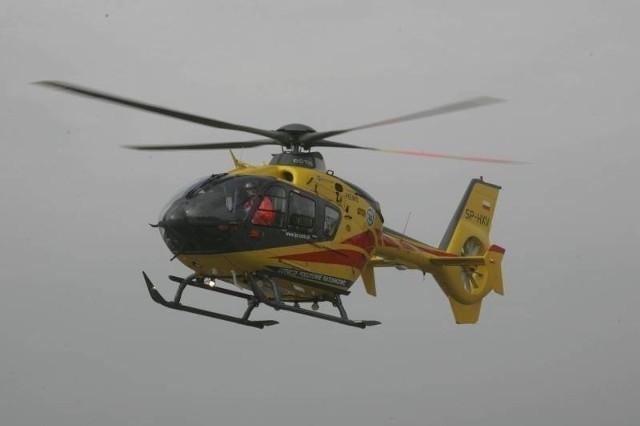 Śmigłowiec LPR lądował w Strzelcach Krajeńskich.