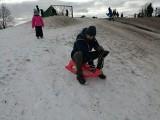 Na Arenie śniegu już mało, ale chętnych do jazdy na sankach wielu! Zobacz, jak jeżdżą najmłodsi saneczkarze