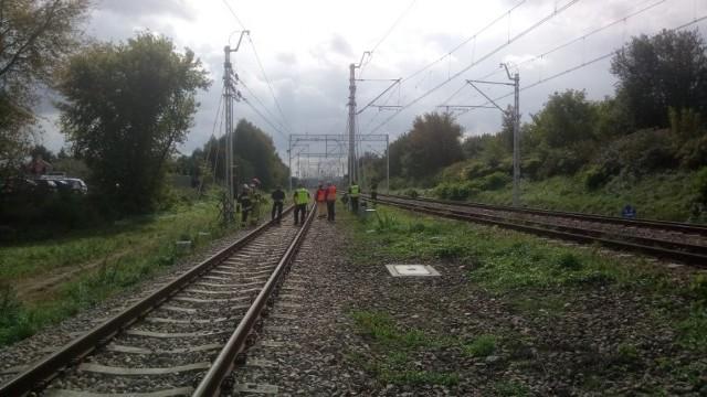 Policjanci pracujący na miejscu śmiertelnego wypadku.