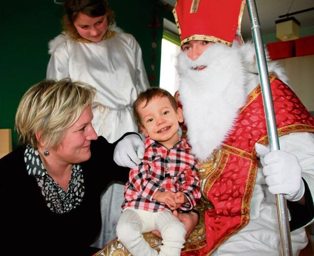 Św. Mikołaj u Błażeja podczas akcji rok temu. Teraz też go odwiedzi