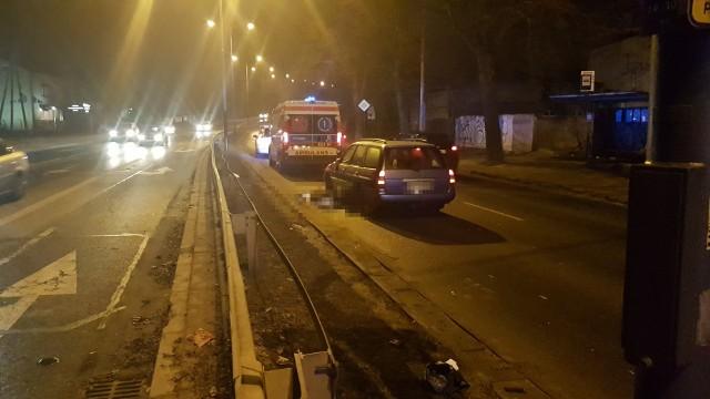 Śmiertelne potrącenie pieszej na Łagiewnickiej w Łodzi