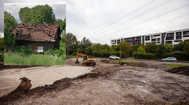 Pozostałości domu - budynek został rozebrany pod budowę ronda
