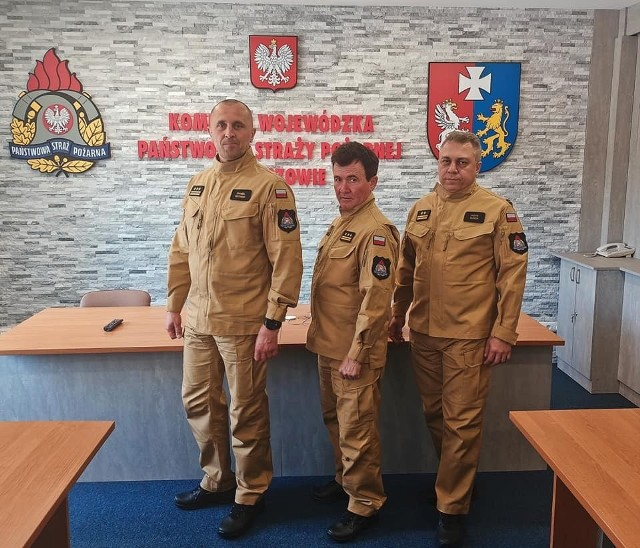 W Komendzie Wojewódzkie Państwowej Straży Pożarnej w Rzeszowie testowano nowe mundury.