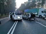 Wypadek na DK nr 10 w Wypaleniskach koło Bydgoszczy [zdjęcia]