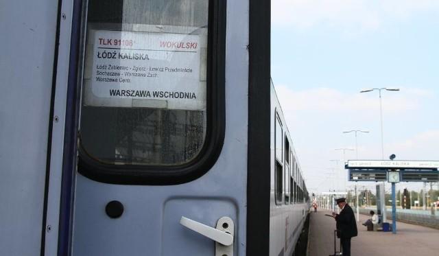 """Z Łodzi Kaliskiej do Warszawy Wschodniej odjeżdża m.in. pociąg """"Wokulski"""". Czy na tory wyjedzie """"Machulski""""?"""