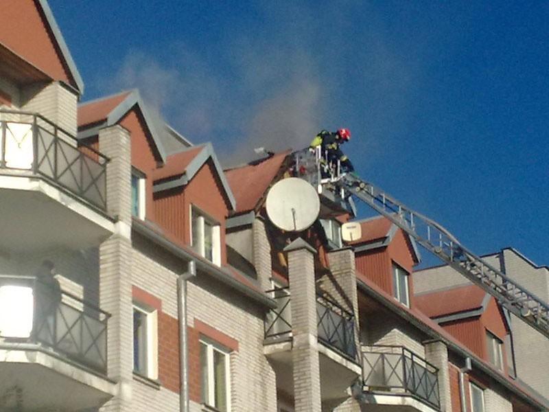 Pożar bloku przy ul. Swobodnej.