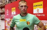 Fortuna 1 Liga. Konrad Forenc, bramkarz Korony Kielce: Wiemy doskonale, że jesteśmy mocni, ale to trzeba udowodnić na boisku (WIDEO)