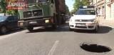Na ul. Łąkowej zapadł się asfalt (wideo)