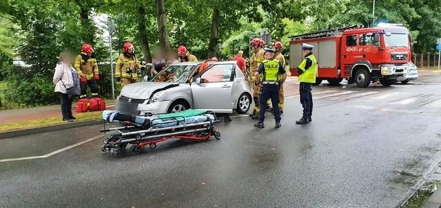 Wypadek na skrzyżowaniu w Białogardzie
